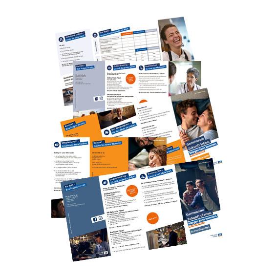Referenz, Flyer für Girokunden der Volksbank Lübeck, in Zusammenarbeit mit www.Bo-ke.de