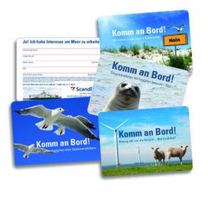 Referenz Textbilder, Postkartenkampagne für Mitarbeiter-Marketing bei Scandlines Heiligenhafen